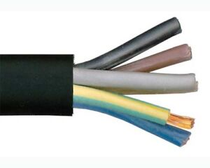 Image Is Loading 5 CORE RUBBER CABLE H07RN F HO7RNF TOUGH
