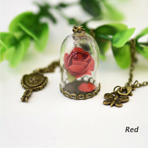 Tiny-Real-Dried-Flower-Seagrasses-Glass-Wishing-Bottle-Vial-Necklace-Pendant