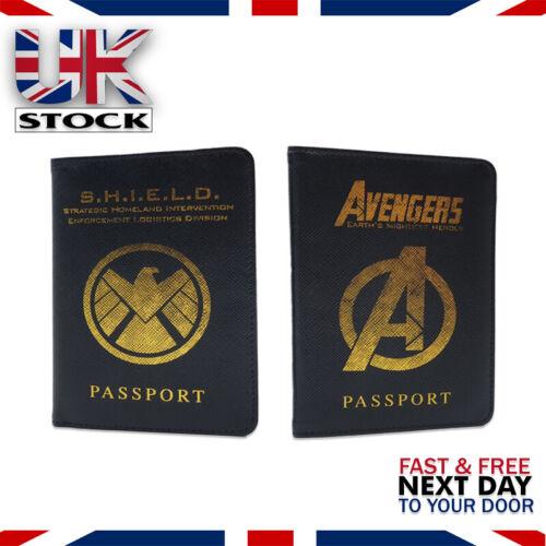 U. K Voyage Porte-Passeport Portefeuille case Cover Marvel Avengers agents de Sheild