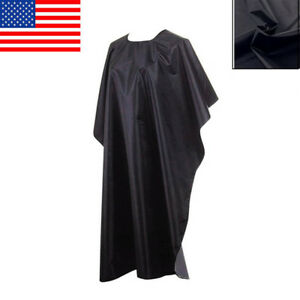 Salon-Hair-Cut-Hairdressing-Hairdresser-Barbers-Cape-Gown-Black-Cloth-Waterproof