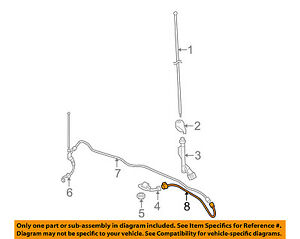 image is loading toyota-oem-10-15-4runner-radio-antenna-cable-