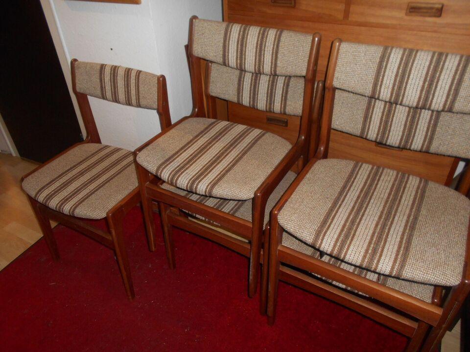 Spisebordsstol, Teak eller bejdset bøg, Erik Buch
