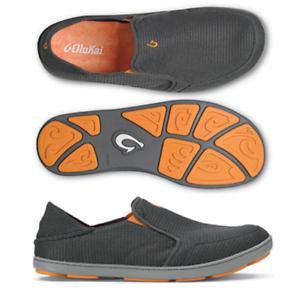 Olukai-Nohea-Mesh-Dark-Shadow-Dark-Shadow-Loafer-Men-039-s-US-sizes-7-15-NEW