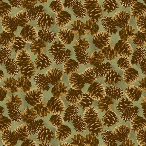Andover Majestic Woods by Suite 1500-8244 G Pinecones Cotton Fabric