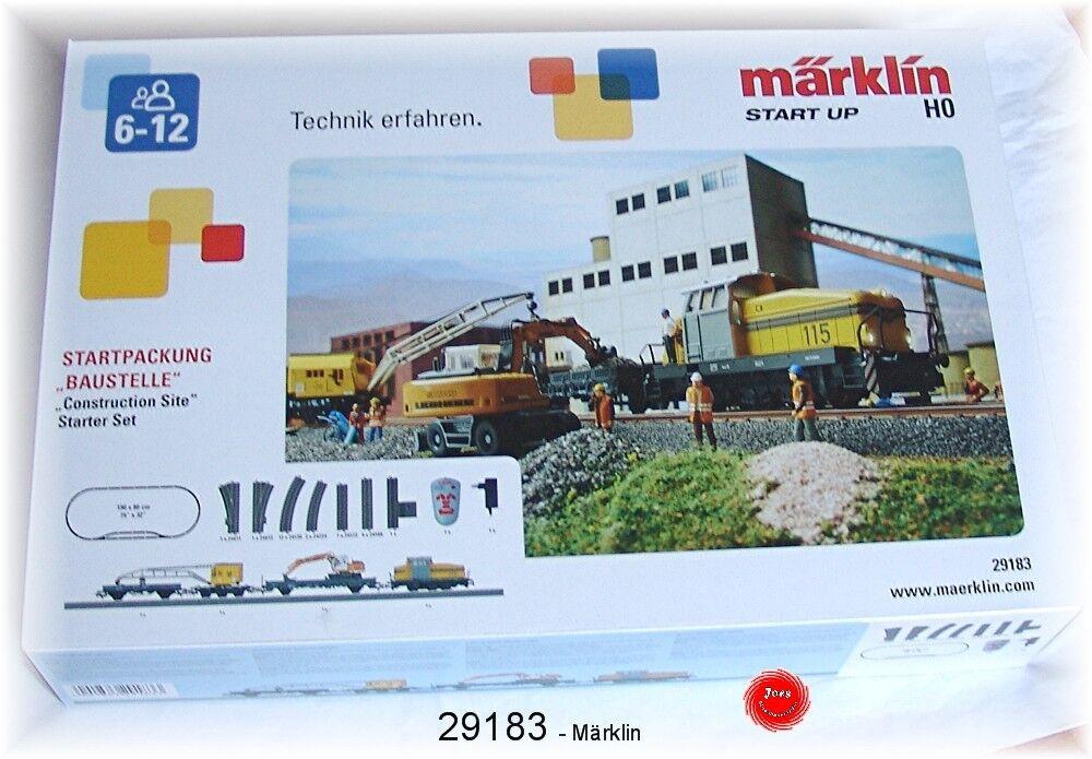 Märklin 29183 Starter Set Construction Site with Diesel Locomotive Dhg 500