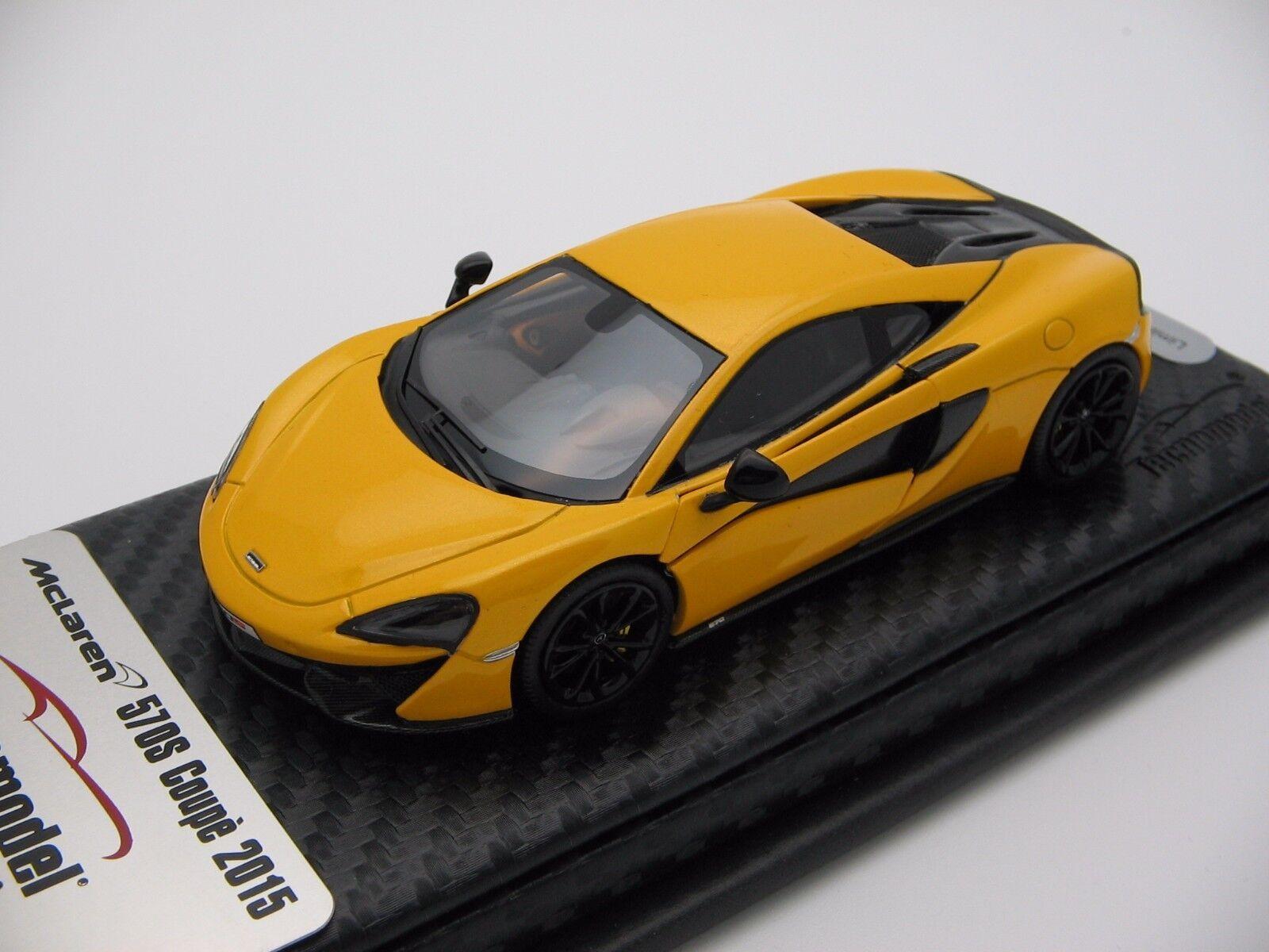 1/43 scale Tecnomodel McLaren 570S Volcano Amarillo 2018 T43-EX02E
