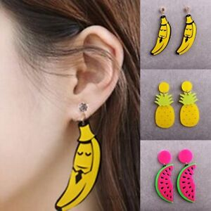 Women-Earrings-Banana-Pinapple-Watermelon-Shaped-Fruit-Pendant-Dress-Up-Acrylic