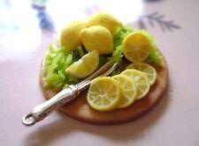 1 dolls house miniatures food lemon  tray maison de poupée Dolls house fimo^^