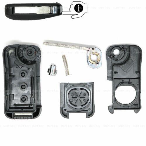 2 teclas plegable clave de sustitución carcasa rohling para Porsche Cayenne 955 9pa
