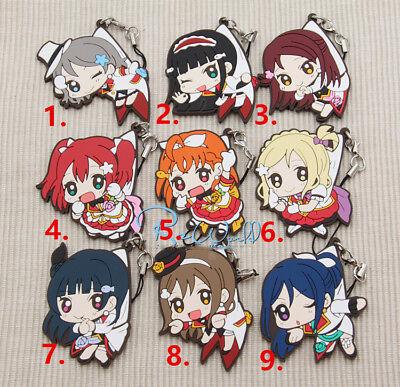 School Gift Rubber Strap Keychain Pendant F1 Hot Japan Anime Cute Love Live
