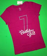 Item 2 NEW 6th 7th Girls BIRTHDAY Shirts 6 7 Years 5 8 10 12 Gift SS Purple Pink
