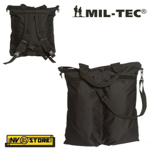 MIL-TEC FLYER HELMET BAG BACKPACK BAG FOR HELMET HELMET BK MILITARY SOFTAIR