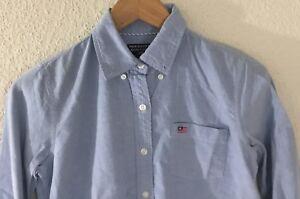 Polo-Jeans-Co-Womens-Long-Sleeve-Light-Blue-Shirt-Size-XS