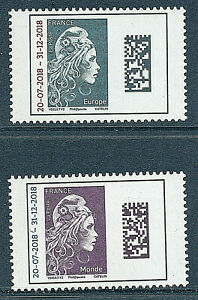 TIMBRES 5270-5271 NEUF XX LUXE MARIANNE D'YZ L'ENGAGEE - DATAMATRIX SURCHARGES