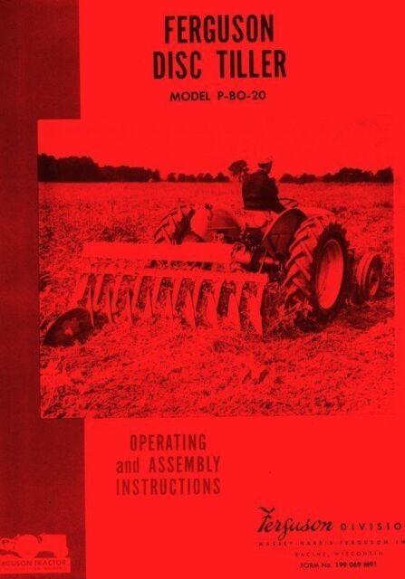 Heavy Equipment Manuals & Books Massey Ferguson M P BO 20 Disc ...