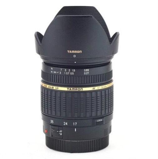 Used Tamron SP A016 17-50mm F/2.8 Di-II XR AF IF Lens for Canon with Hood