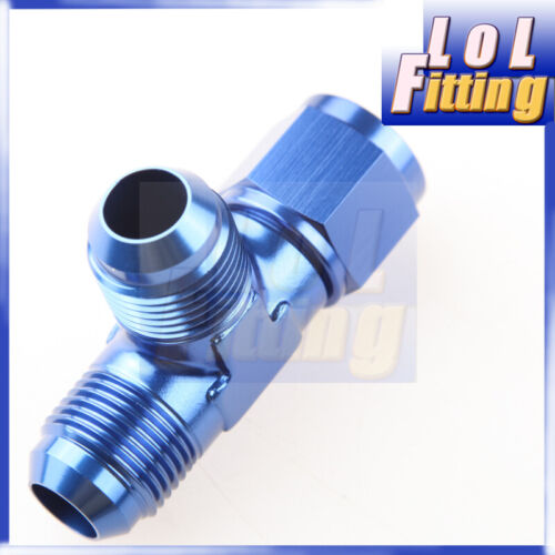 4AN 6AN 8AN 10AN 12AN Male To Male To Female Pipe Tee Fitting Adaptor Aluminum