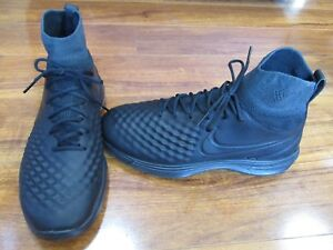 d92c2d531d87 NEW NIKE Lunar Magista II Flyknit Soccer Shoes MENS Sz 7.5 BLACK ...