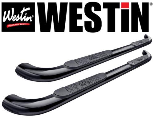 Westin Platinum 4 Oval Nerf Step Bars 2015-2018 Chevy Colorado Crew Cab BLACK