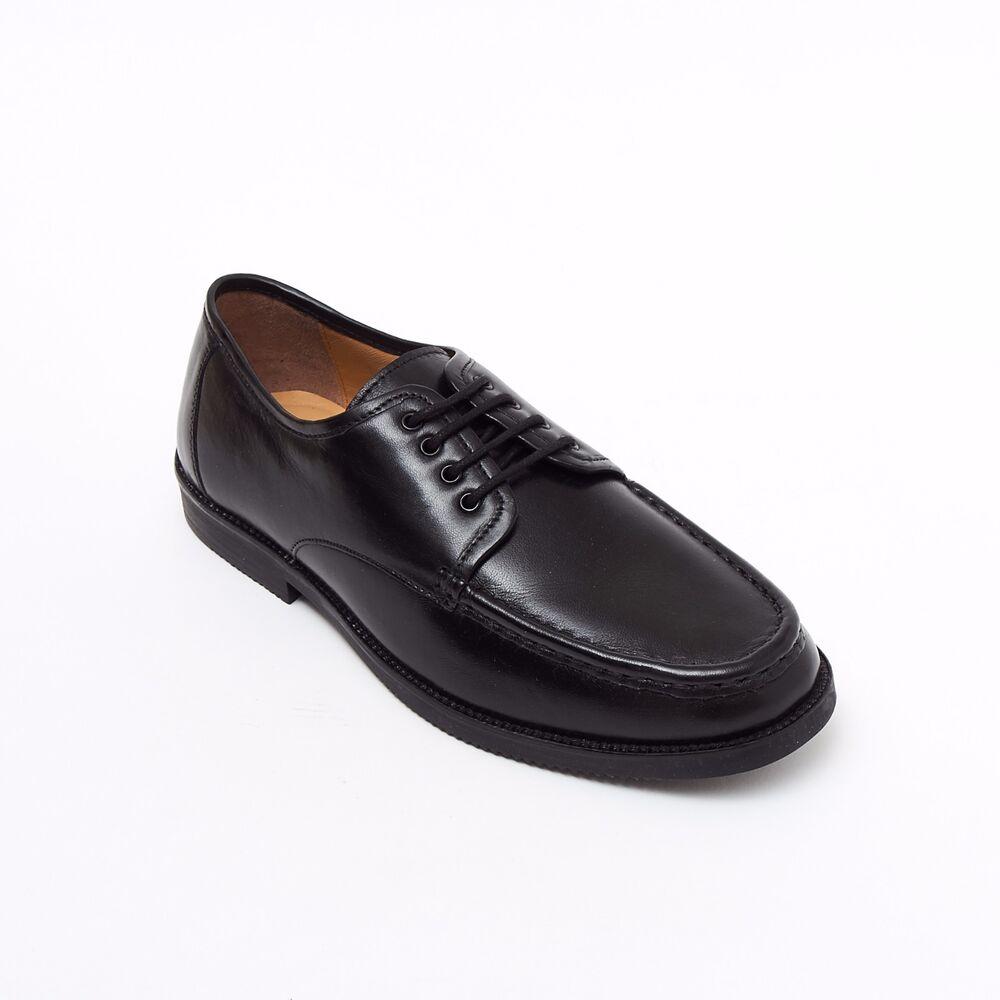 Lucini Formelle Hommes Noir Cuir 4 œillet Chaussures Confort Mariage Bureau Travail