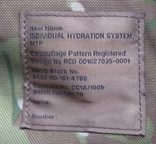 Genuine British Army Issue Camelbak Hydration System MTP CAMO MULTICAM 3.0L