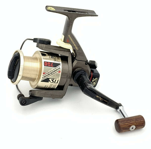 Utiliza Reel De Pesca Daiwa WHISKER Sport GS750 Hilado Cocheretes Muy Buena