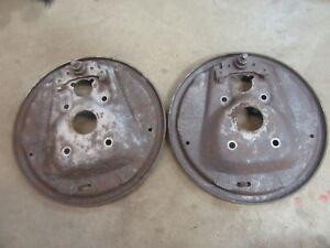 Details about 1951-54 Chevrolet Styleline Belair front stock spindle brake  shoe backing plates