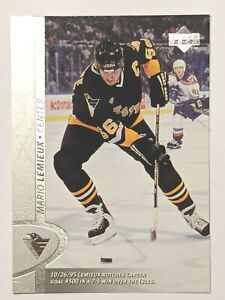 1996-97-Upper-Deck-321-Mario-Lemieux-Pittsburgh-Penguins-Hockey-Card
