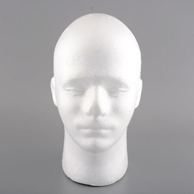 Male Styrofoam Foam Manikin Head Stand Mannequins Display Wig Hat 54cm