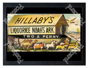 Historic-Hillaby-039-s-Liquorice-Noah-039-s-Ark-c-1880-Advertising-Postcard