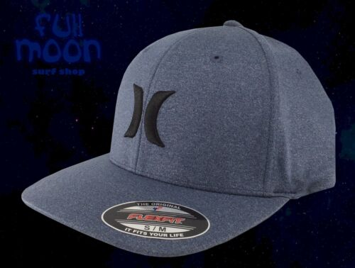 New Hurley One and Textures Flexfit Heather Blue Mens Cap Hat