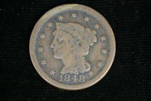 1848 Liberty Young Matron Head Large Cent Nice Detail M-1778