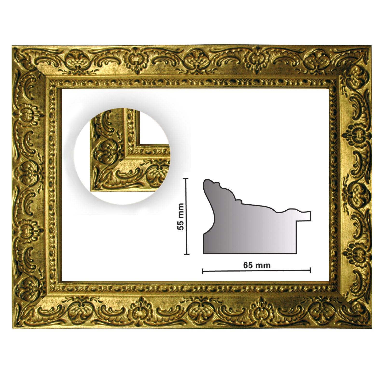 Baroque frame oro finemente finemente finemente decorato 976 oro, diverse varianti 4d9326