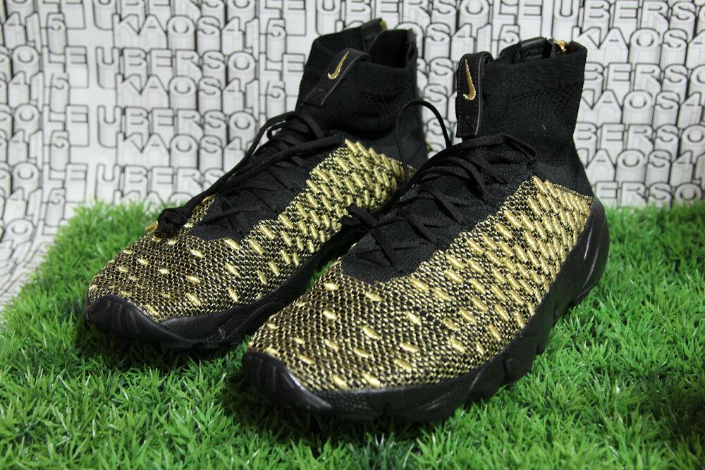 Nike Air Footscape Magista QS Lion supreme Black gold ZIPPER 834905 007 MEN US 9