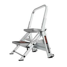 Little Giant Safety Step 2 Step 2 Foot Step Stool Aluminum 2 Step Ladders