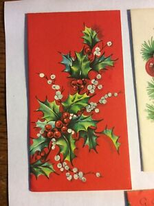 Lot-of-3-Vintage-1961-Christmas-Cards-Ephemera-Crafts
