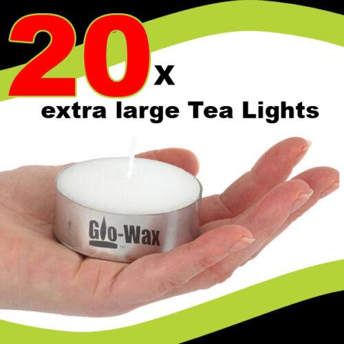 1 of 1 - GLO-WAX EXTRA LARGE 10hr LONG BURN TEA LIGHTS TEALIGHTS