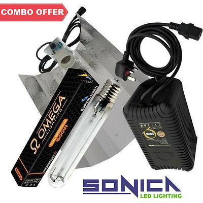 4 600w Grow Light Kit Omega PRO-V Ballast HPS Dual Spectrum Lamp Reflector Shade