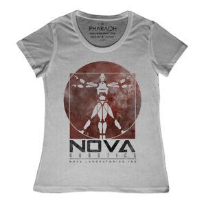 Ladies-Nova-Robotics-Short-Circuit-Jonny-5-T-Shirt-Retro-Vintage-Classic-Movie