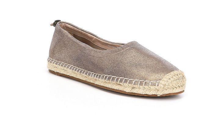 Eileen Fisher Bali Platinum Metallic Suede Flat 8.5 8.5 8.5 3f6249