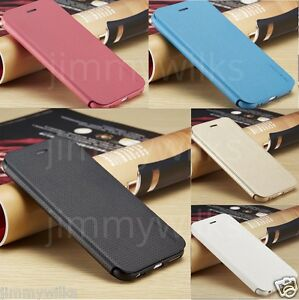 SLIM-Genuine-PU-Leather-Flip-Case-Wallet-Cover-for-Apple-iPhone-Models