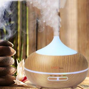 Wood Grain Essential Oil Diffuser Whisper Quiet Cool Mist Humidifier - 300ml