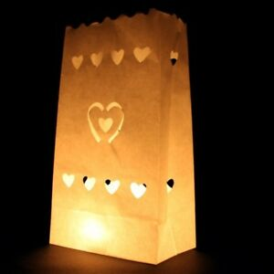 50-LED-Battery-Candle-50-White-Candle-Bag-Lantern-Wedding-Path-Door-Decoration