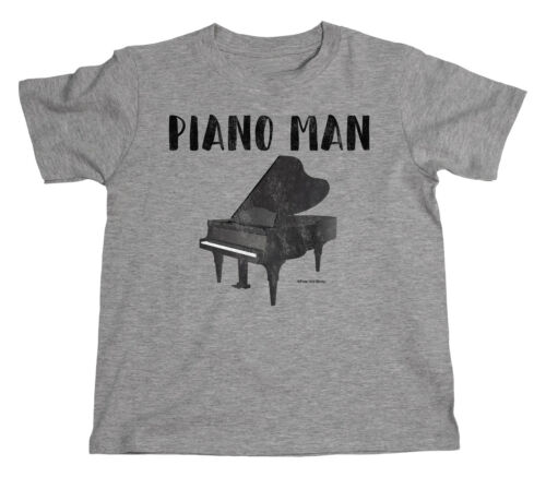 Kids PIANO MAN Pianist Grand Acoustic Instrument Novelty Unisex Music T-Shirt