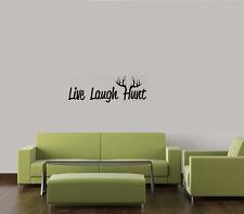 LIVE LAUGH HUNT DEER ELK CAMO HUNTING BOY VINYL WALL DECAL BEDROOM HOME NURSERY