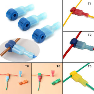 Details about 50pcs Quick Lock Splice Wire Connector Terminal Crimp on