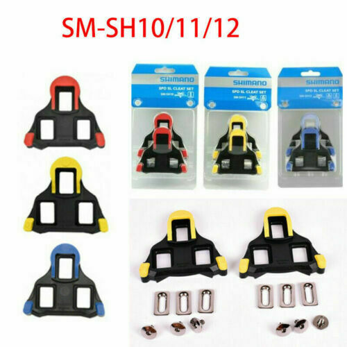 Shimano SM-SH10//11//12 Fixed Cleats Set 0//2//6° Float SPD-SL for Bike Pedals Hot