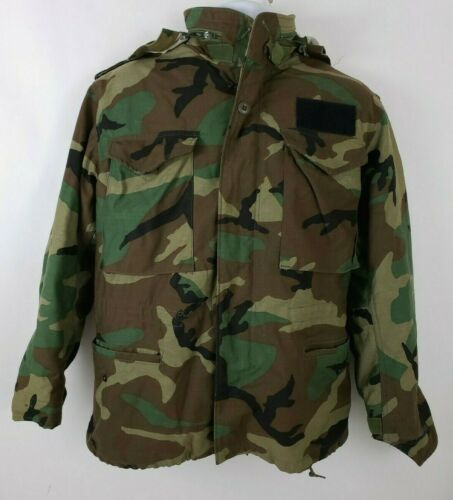 Army Military Camouflage Cold Weather Coat Mens Re