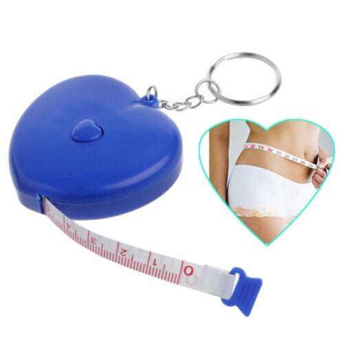 environ 1.50 m 1.5 M Keychain Portable rétractable règle en forme de cœur ruban à mesurer 4.92 FT