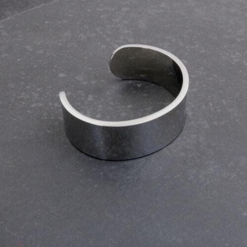 Massive pulida de acero inoxidable armspange unisex talla m
